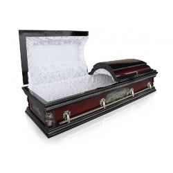 """Гроб двухкрышечный """"Вегас"""" махагон"""