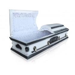 """Гроб двухкрышечный """"Вегас"""" белый"""