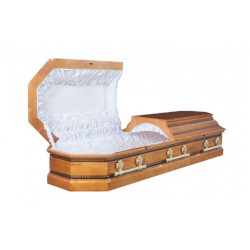 """Гроб двухкрышечный """"Пегас""""светлый"""