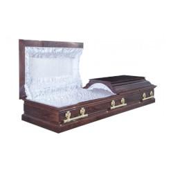 """Гроб двухкрышечный """"Пегас""""темный"""