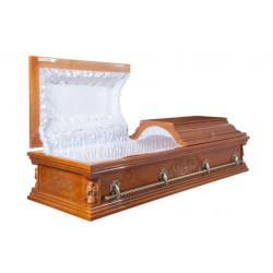 """Гроб двухкрышечный """"Вегас""""светлый"""